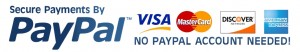We accept all major credits cards and PayPal payments